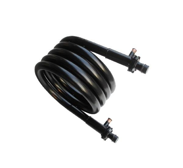 ss outer tube titanium inner tube coaxial evaporator and condenser