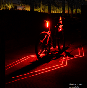 Promotional 6 Modes USB Rechargeable Rear Bike Light Laser Function Bicycle Laser Tail Light