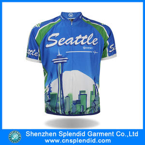 Wholesale customized cycling shirt sublimation bike jersey