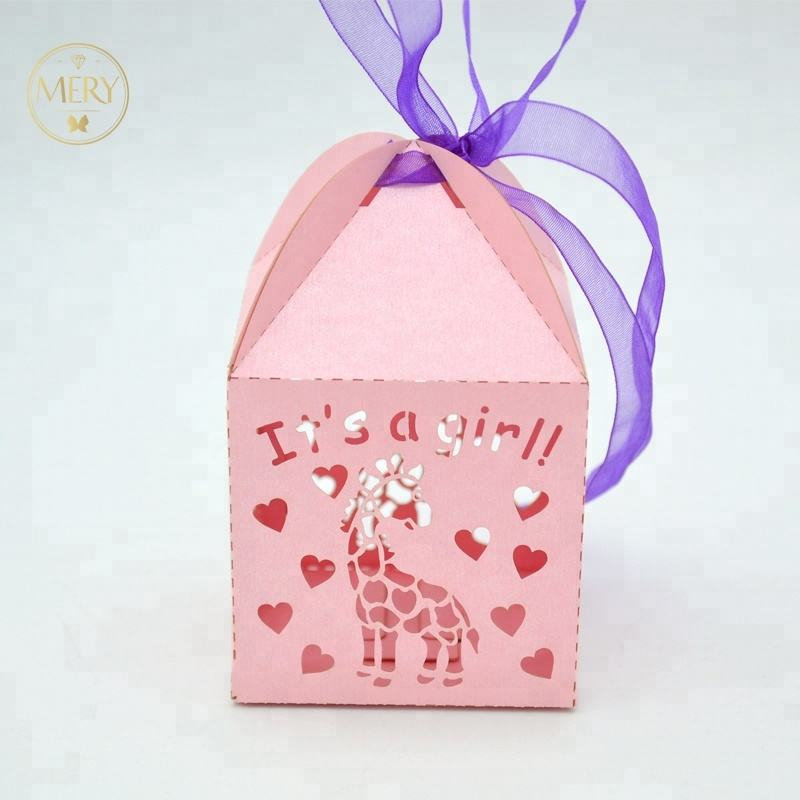 Laser Cut High Quality Baby Shower Favor Candy Box Gift Box