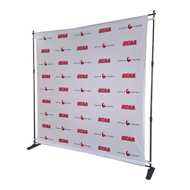 Adjustable step and repeat backdrop/large format banner stand 8ft