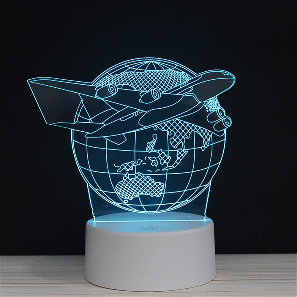 Christmas Acrylic Mini Optical Illusion Lamp 3D LED Baby Night Light