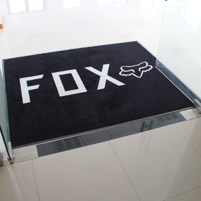 anti slip nylon material rubber backing logo door mat