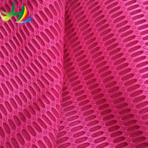 2017 China supplier 3D air breathable mesh fabric very popular material for home textile ingredient