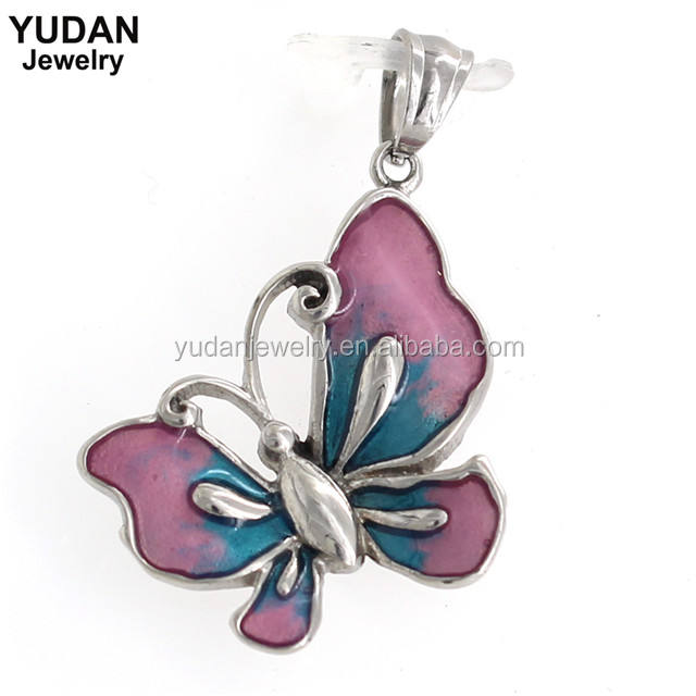 China factory direct custom engrave butterfly charms
