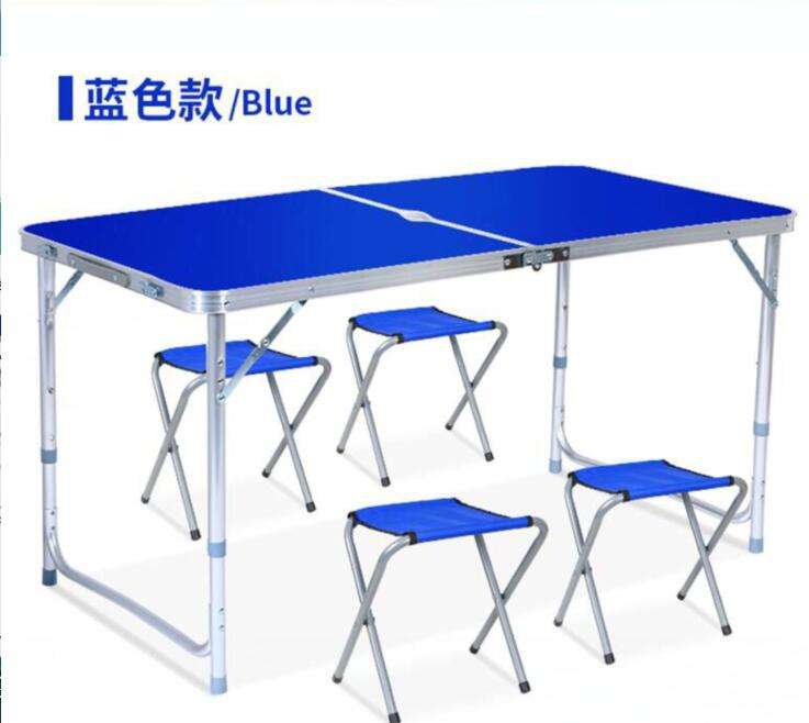 Light Weight Outdoor Extendable Heights Adjustable Aluminum Foldable Desk Portable Folding Dining Camping Picnic Table