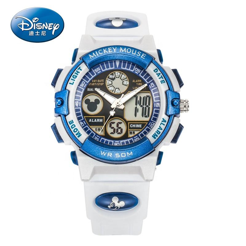 MK-15014W Custom Design Disney Merk Plastic Digitale Kind Horloge met Alarm