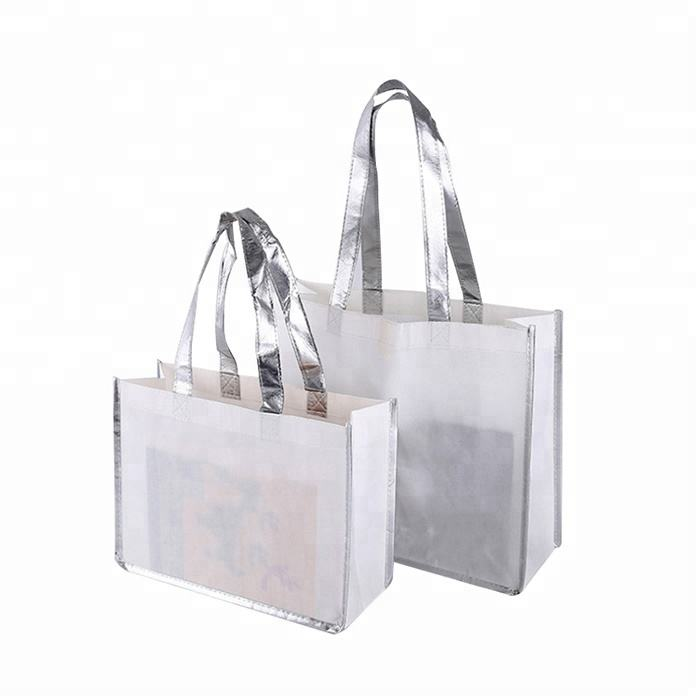 Portable recyclable logo printing machine sewing foldable non woven hand shopping bag