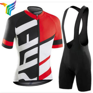 China Supplying Custom Moisture Wicking Short Sleeve Cycling Wear Set For Men