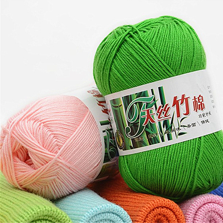 china oeko tex knitting yarn manufacturers wholesale cotton bamboo blended yarn 50g balls for hand knitting