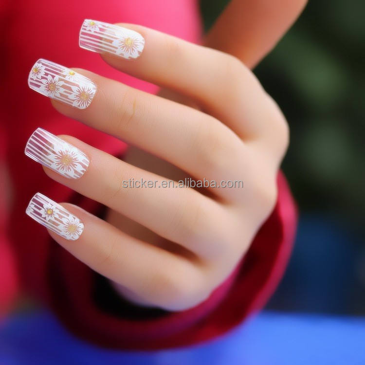 Colorful henna nail sticker