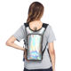 holographic glitter laser hydration pack backpack