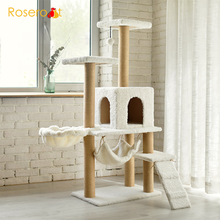 Cat Tree Tower Condo Scratcher Post Furniture Kitten House Hammock Cat Scratcher
