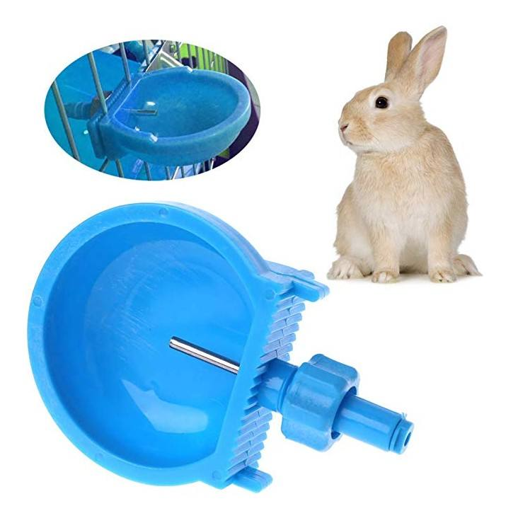 Small Pet Drinker Water Bowl Hamster Rabbit Drinking Bowl for Cage Rabbit Water Drinker