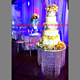 new design hanging round clear crystal acrylic wedding cake stands