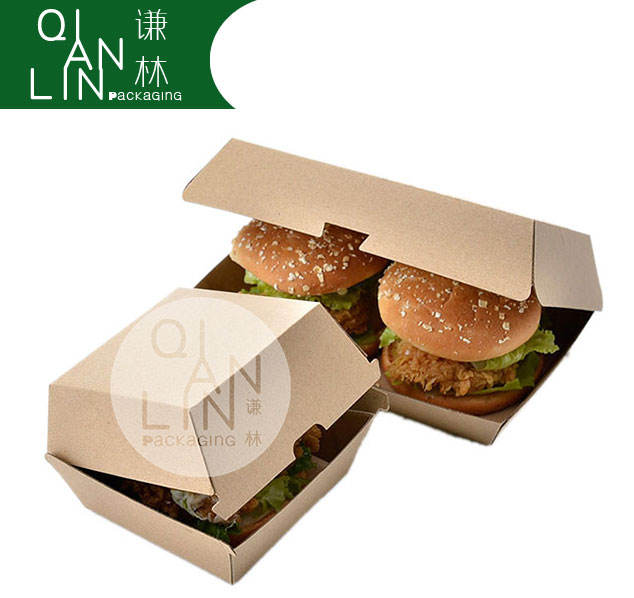 Wholesale Hamburger China food packing box, High Quality food packaging, Packaging Kraft Whiteboard Takeaway Food Box