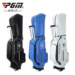PGM Waterproof PU Trolley Golf Bag With Wheels