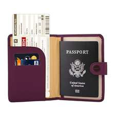Custom multiple long Rfid Blocking Travel Leather cover passport holders Slim Id Card Case for men and women