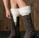 Fashion short Heated fluffy furry leg warmers women faux fur Boot Cuffs