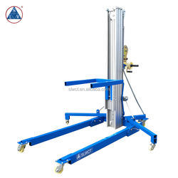 200kg Winch Operated Portable Aluminum Material Lifter