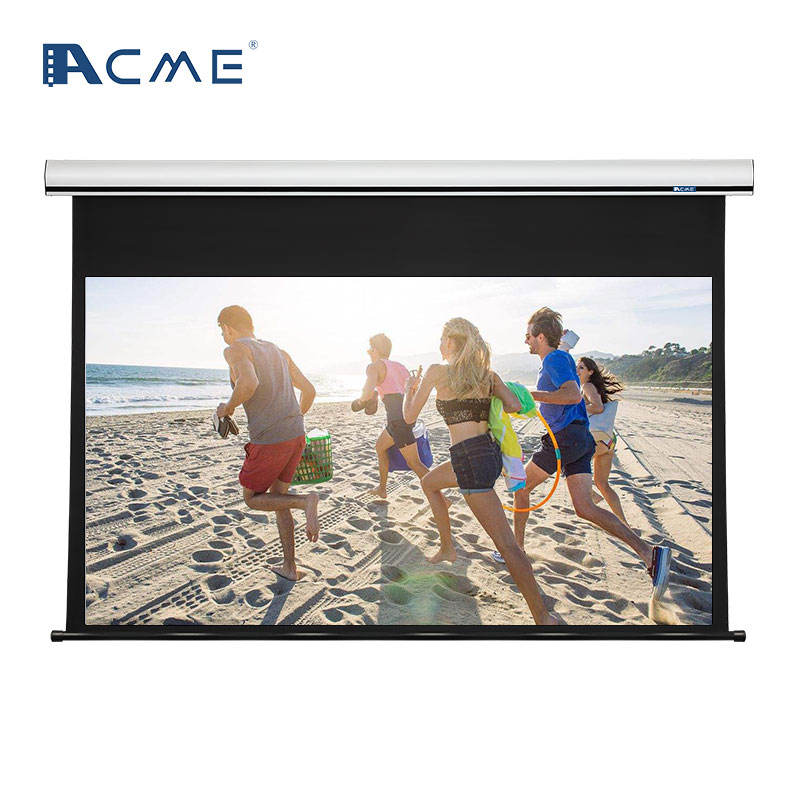 Matte White Fabric Motorized Electric Projection Projector Screen 4:3 16:9 100-300 inch big size Electric projector screen