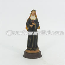 Catholic statue wholesale Saint Rita of Cascia San Francisco resin religious statue for sale
