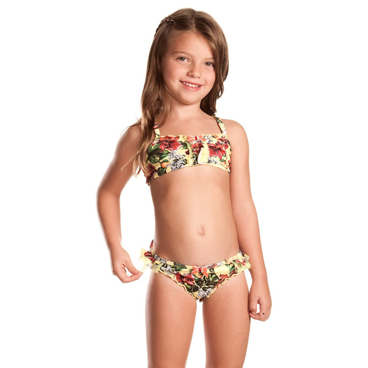 Custom made cute girls beach bikini kids 수영복 bikini