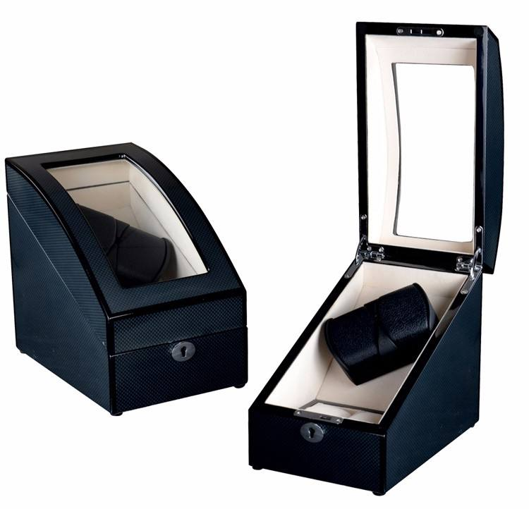Double Knob Watch Winder dengan Lampu LED