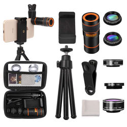 LIGINN   6 in 1 Wide angle fisheye macro telescope  zoom moboile camera lens for mobile phone