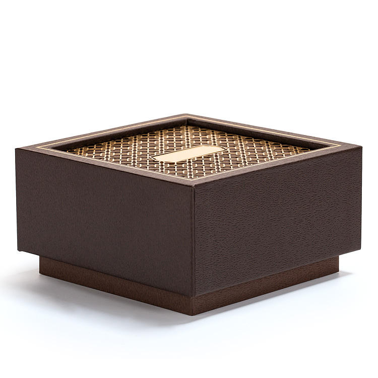 Double-opening style luxury jewelry box Dual opening gift box with hollowed-out shavings