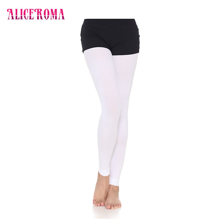 0200018 Wholesale Women Footless Ballet Compression Custom Printed Tights