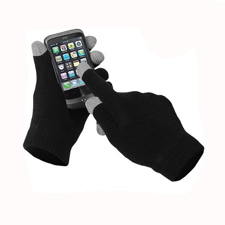 Smartphone touch glove and knitted promotion gloves