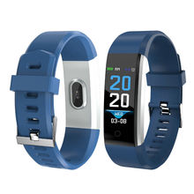 IP67 gift Big colorful  bT 4.0 blood pressure heart rate fitness sport 115 Plus smart bracelet dropshipping 115 plus watch