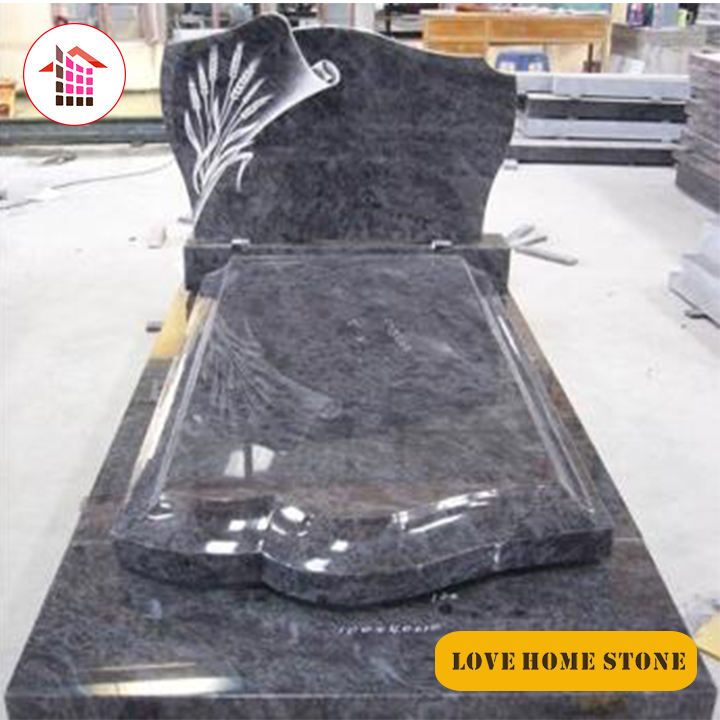 Low Price Polished Chinese black granite cross headstone