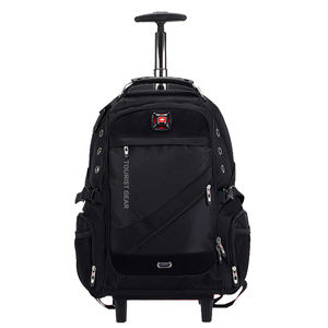 2020 new products trolley bag trolley backpack with wheels Multifunctional trolley travel bag