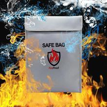 "15"" x 11"" non-Itchy silicone coated fire resistant storage safe document bag fireproof money bag"