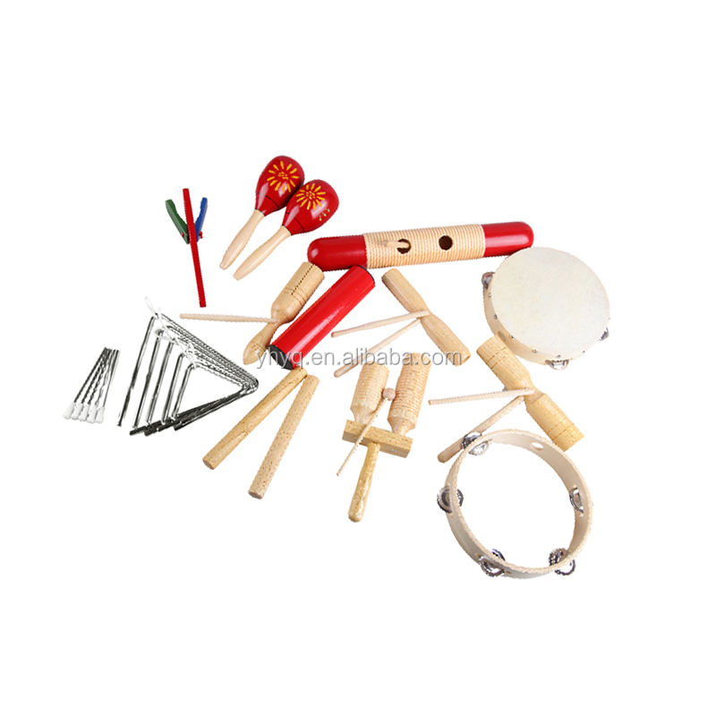Kleinkind Pädagogisches Musical Percussion für Kid Musical Instrument Holz Orff Percussion Set 17 Pcs