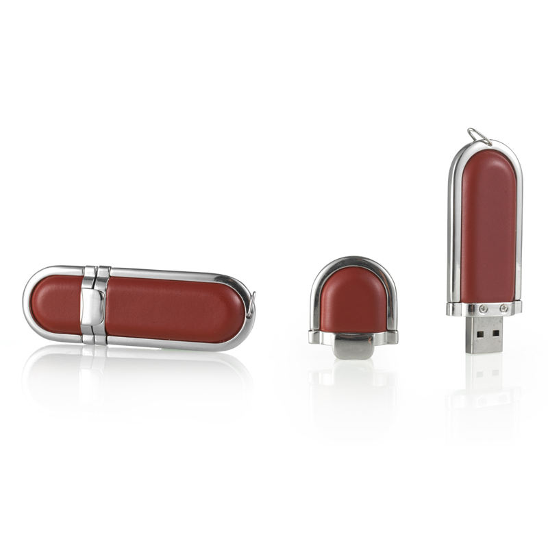 brown 16 gb leather usb flash for promotion