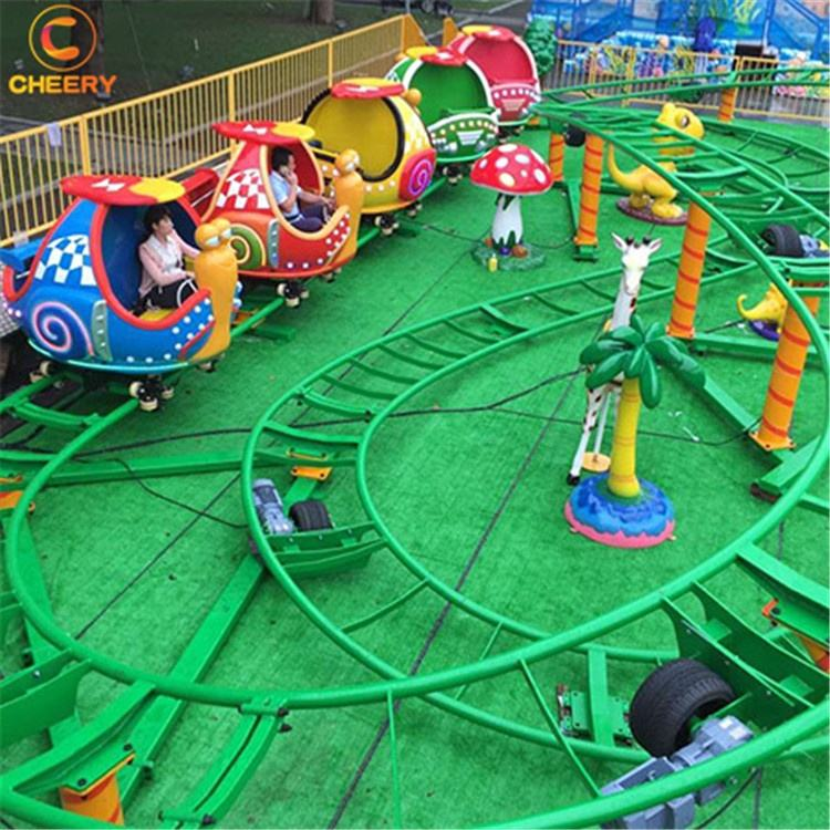 Customized amusement park rides factory price snail cabin spinning roller coaster in china