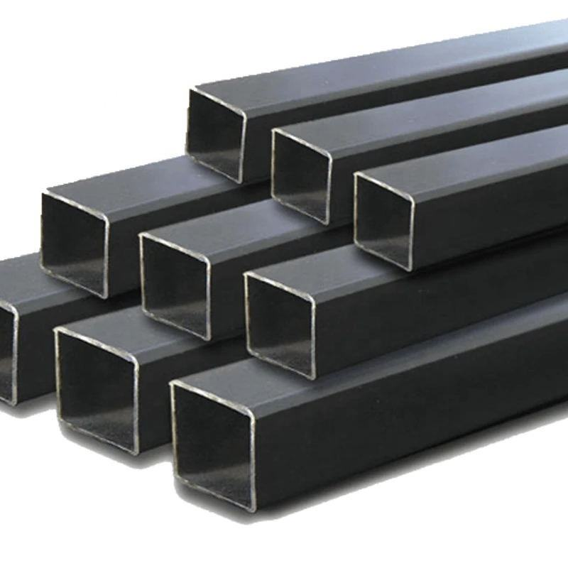 China Black Square Steel Pipe Seamless, Black Iron Square Tube, galvanized square tube brackets