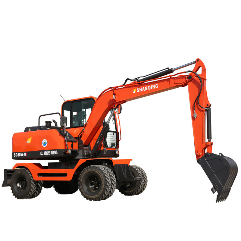 Wholesale Good Condition cheap hydraulic bagger 7t 8t 9t super wheel excavator