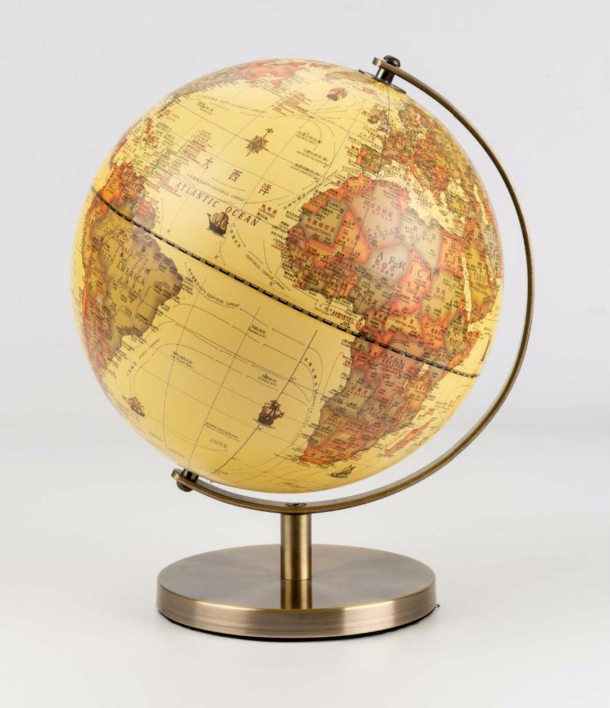 2018 Hot Sale Decorative archaize and Educational world globe