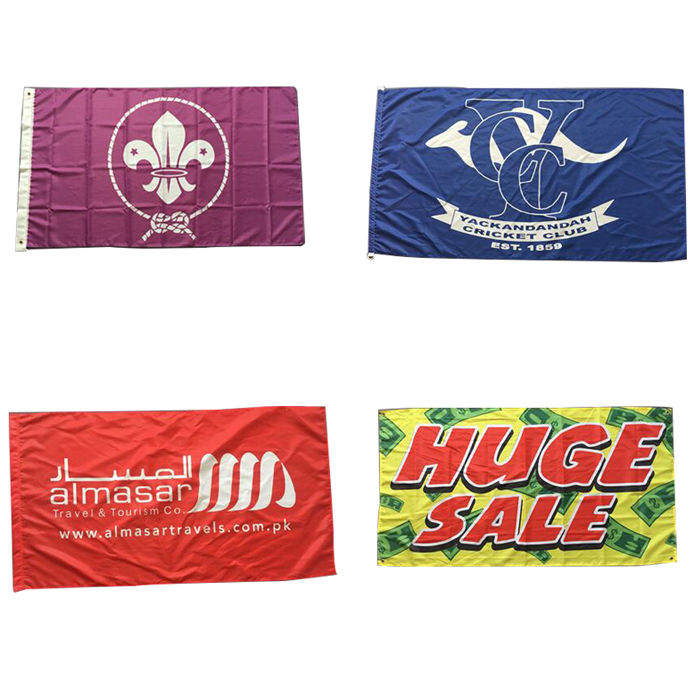Design 100% Bleed Silk Screen Printed Custom Flags 3x5