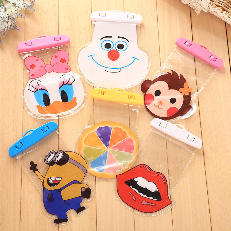 2018 Cartoon High Quality Universal Water Proof PVC Mobile Phone Cases Waterproof Bag/Pouch
