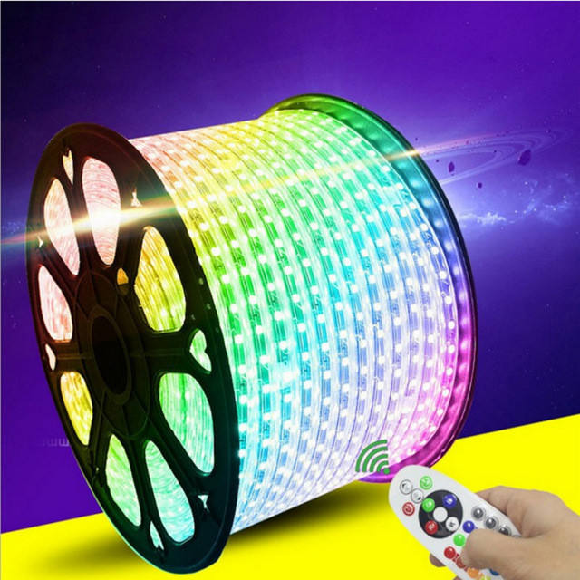 60 Led/m 110 v/220 v SMD 5050 Chip Flessibile ha condotto la striscia multicolore striscia di RGB led