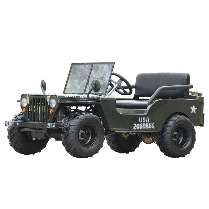 Hot Sale CE Approved 150CC 2 seats Mini Jeep Willys for kids