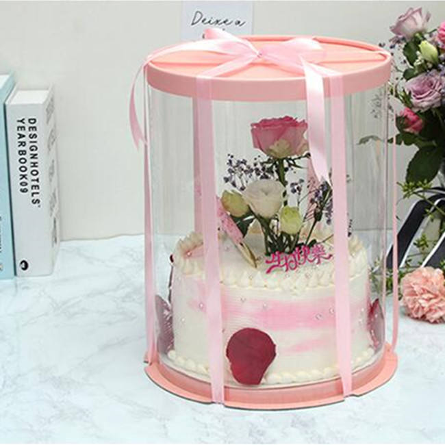 Buy high Quality Round Cake Boxes8''10''12'' Round Wedding Cake Boxes birthday tall gift package Cake Boxes