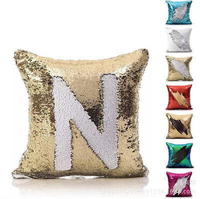 in stock Spangle pillow sequin cushion/blinking gold sequin pillow chair car seat cushion cover