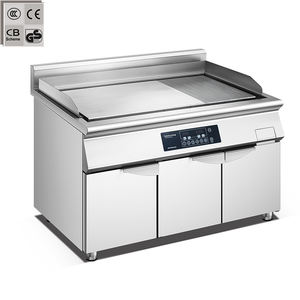 commercial electric induction griddle restaurant stainless steel griddle