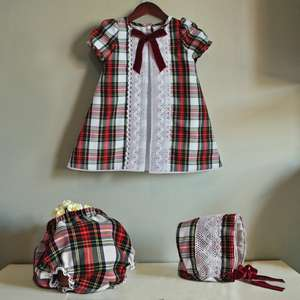 Baby Girl Dress For New Year Festival Girls Costumes Red Plaid princess Dress Kids Clothes For Girls Christmas Dress Santa